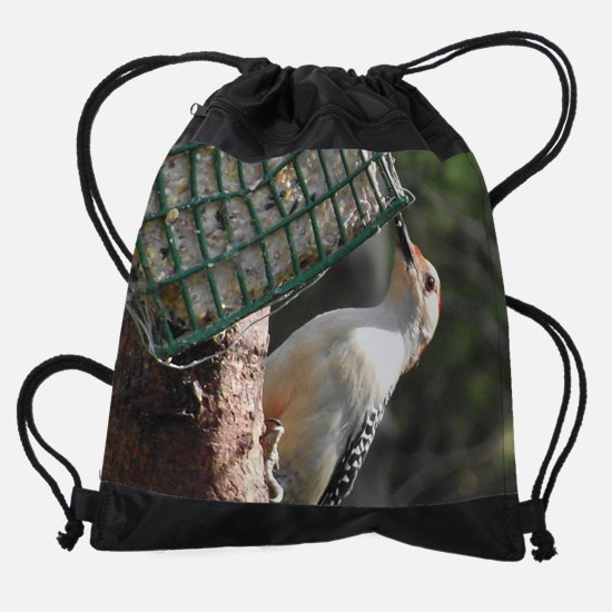 Red-Bellied Woodpecker - Female Drawstring Bag