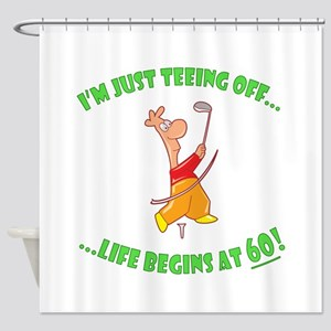 Teeing Off At 60 Shower Curtain