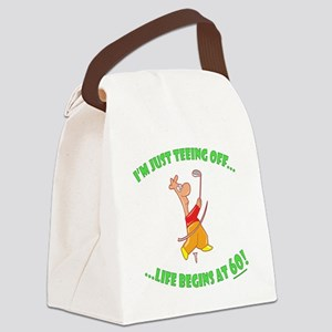 Teeing Off At 60 Canvas Lunch Bag