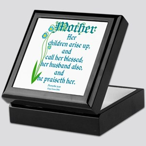 Proverbs 31:28 Flower Keepsake Box
