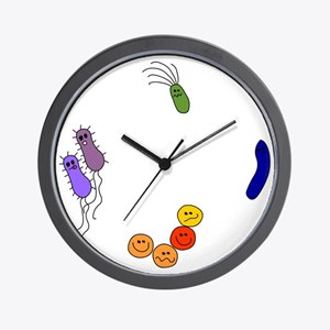 Bacteria are My Friends Wall Clock