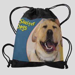 Yellow Lab Photo Drawstring Bag