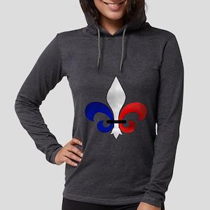 Fleur de Lis Womens Hooded Shirt