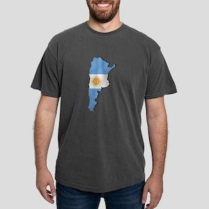 Argentina Flag Map Mens Comfort Colors Shirt
