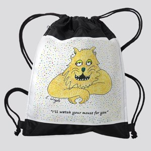CP cat and mouse 300 8x9.5 Drawstring Bag