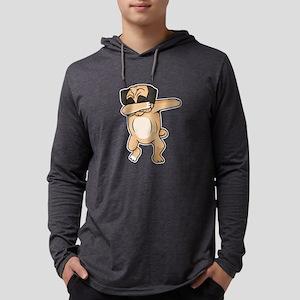 Pug Dab Mens Hooded Shirt