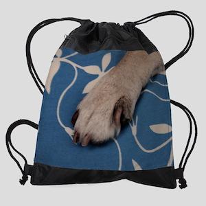 pug paw Drawstring Bag