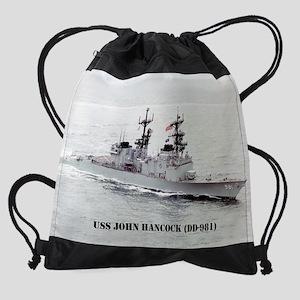 j hancock calendar Drawstring Bag