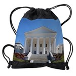 VA Capitol build calendar copy Drawstring Bag