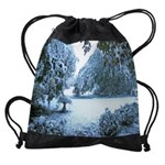 early snowCALENDAR - WALL 75_H_F.pn Drawstring Bag