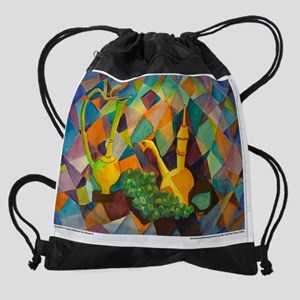 AladdinsLampAbstractCPWallCalendarF Drawstring Bag