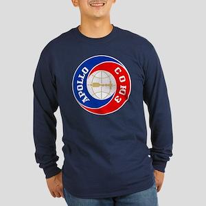 Apollo Soyuz Logo Long Sleeve Dark T-Shirt