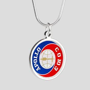 Apollo Soyuz Logo Silver Round Necklace