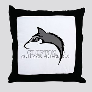 Clifton Outdoor Wolf Throw Pillow
