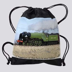 A1 Pacific Steam Locomotive Tornado Drawstring Bag