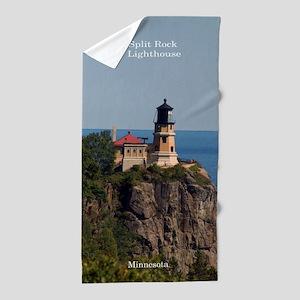 Split Rock Lighthouse Beach Towel