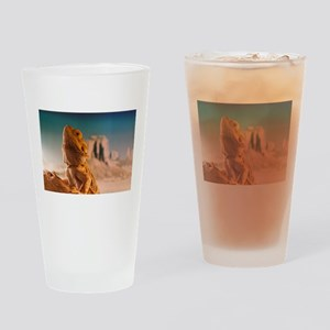 Monkey is a bearded dragon Drinking Glass