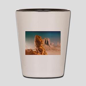Monkey is a bearded dragon Shot Glass