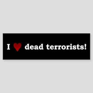 Heart Dead Terrorists Bumper Sticker