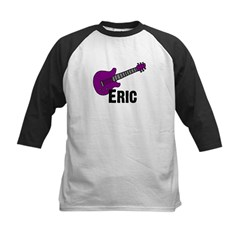 Guitar - Eric - Purple Kids Baseball Jersey