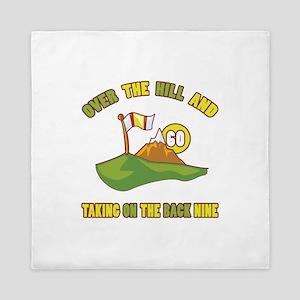 Golfing Humor For 60th Birthday Queen Duvet