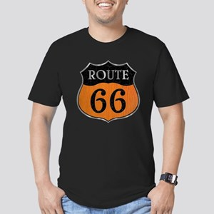 Rt 66 Wood Stone Steel Men's Fitted T-Shirt (dark)