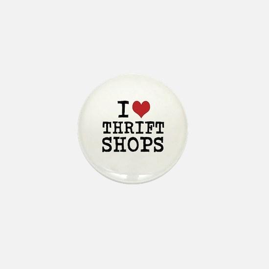 I Heart Thrift Shops Mini Button