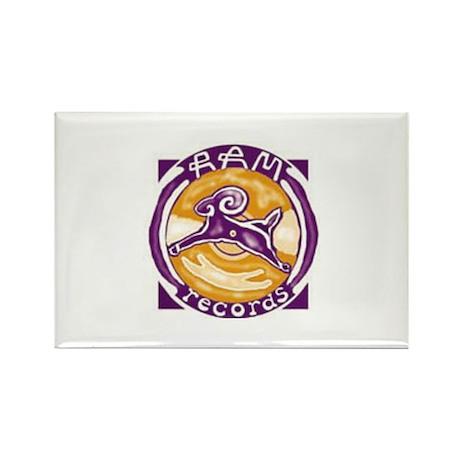Ram Records Logo Rectangle Magnet