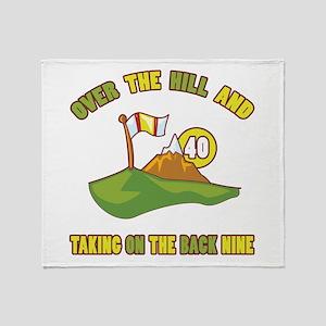 Golfing Humor For 40th Birthday Throw Blanket