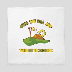 Golfing Humor For 40th Birthday Queen Duvet