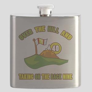 Golfing Humor For 40th Birthday Flask