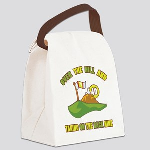 Golfing Humor For 40th Birthday Canvas Lunch Bag