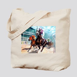 DOWN THE FIRST TURN Tote Bag