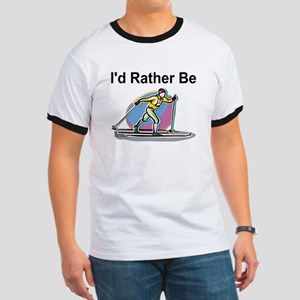 Rather Be Cross Country Skiing Ringer Tee