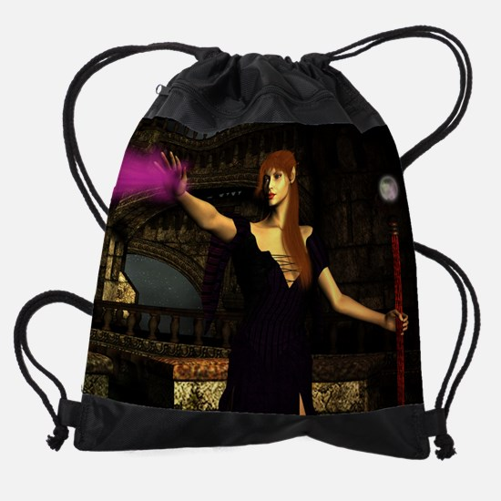 sorceress mousepad.png Drawstring Bag