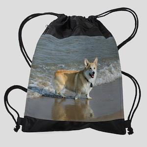 Beach Scene Drawstring Bag