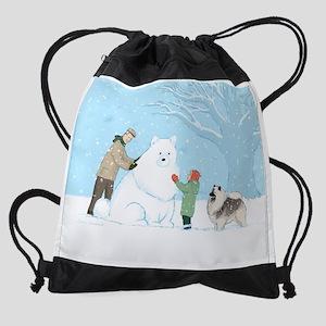 snowdogcalendarprint Drawstring Bag