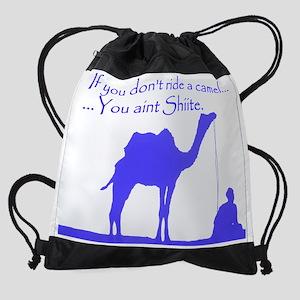 camel_shiite blue trans.png Drawstring Bag