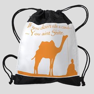 camel_shiite orange trans.png Drawstring Bag