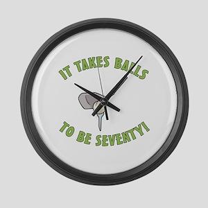 70th Birthday Golfing Gag Large Wall Clock