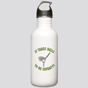 70th Birthday Golfing Gag Stainless Water Bottle 1