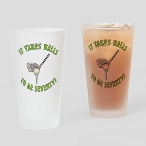 70th Birthday Golfing Gag Drinking Glass