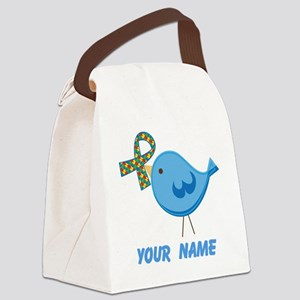 Personalized Autism Bird Canvas Lunch Bag