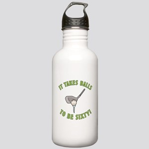 60th Birthday Golfing Gag Stainless Water Bottle 1