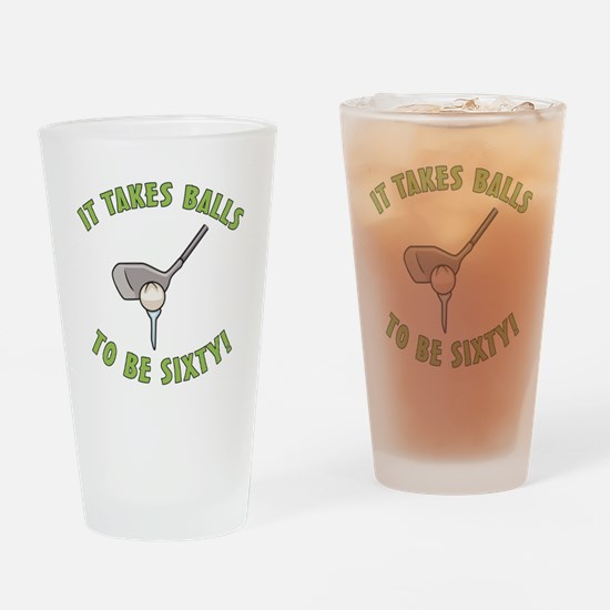 60th Birthday Golfing Gag Drinking Glass