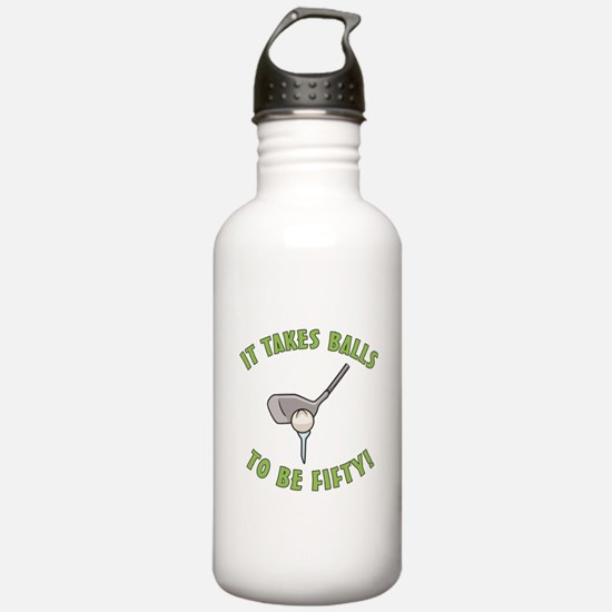 50th Birthday Golfing Gag Water Bottle