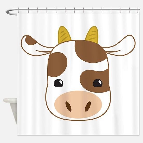 cute cow face Shower Curtain