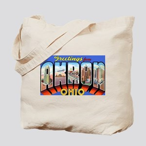 Akron Ohio Greetings Tote Bag