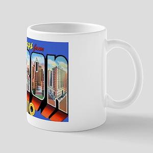Akron Ohio Greetings Mug