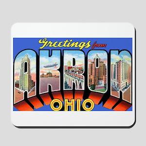 Akron Ohio Greetings Mousepad